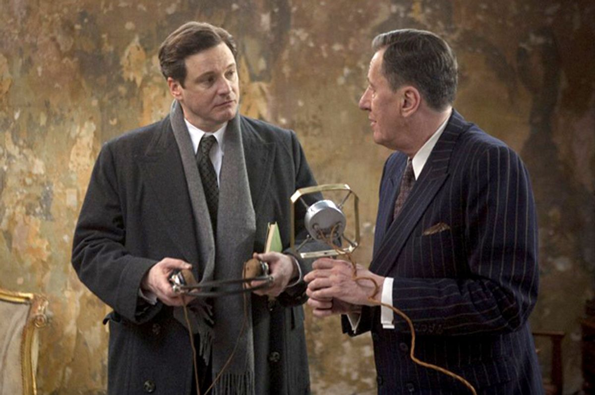 """Colin Firth and Geoffrey Rush in """"The King's Speech""""   (The Weinstein Company)"""