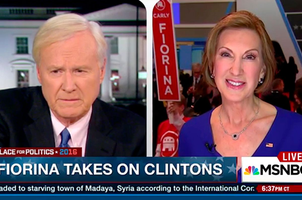 Chris Matthews, Carly Fiorina   (MSNBC)