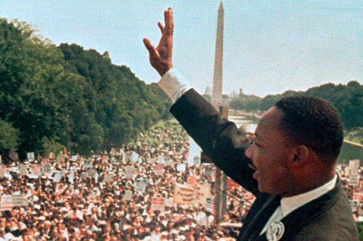 Dr. Martin Luther King Jr. at the March on Washington, Aug. 28, 1963.   (AP)