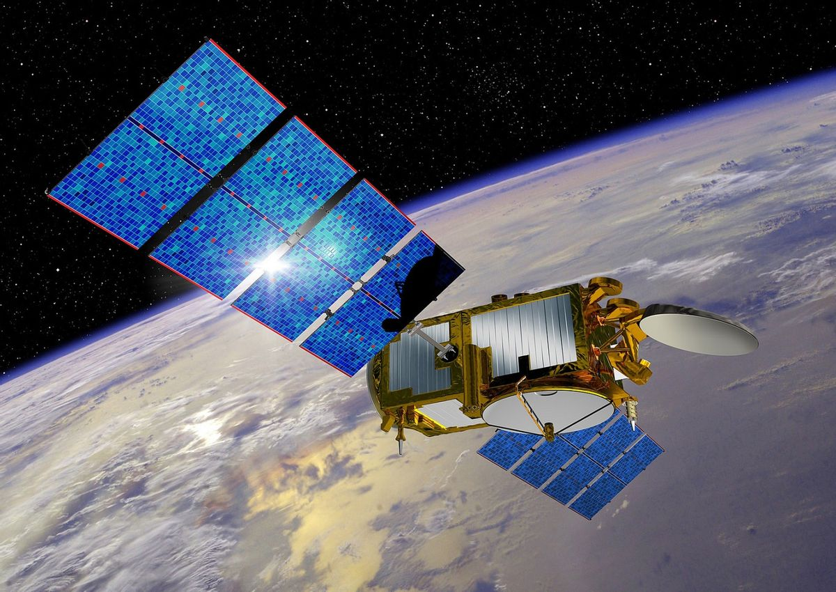 This undated artist rendering provided by NASA shows the Jason-3 satellite. The latest in a series of U.S.-European satellites designed to detect ocean events like El Nino is scheduled for launch Sunday, Jan. 17,  from California. If successful, the Jason 3 satellite will continue more than two decades of sea level measurements. (NASA via AP) (AP)