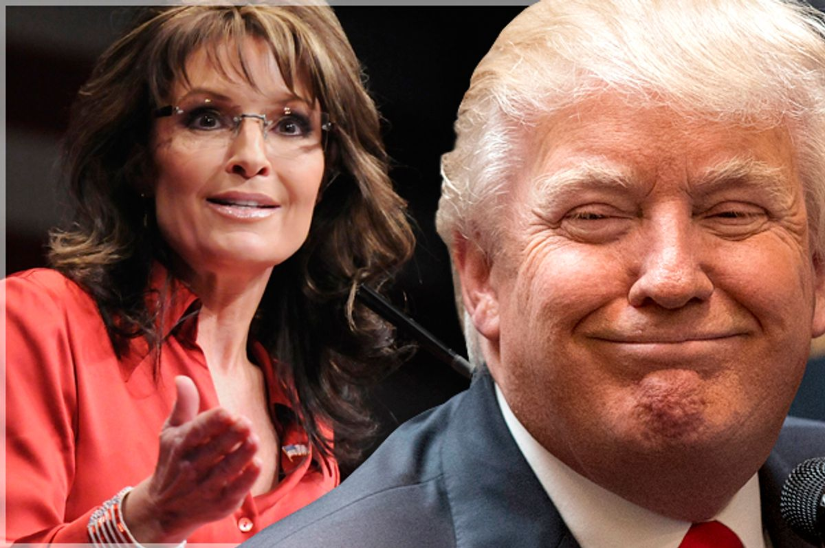 Sarah Palin, Donald Trump   (Reuters/Jonathan Ernst/Brendan McDermid/Photo montage by Salon)