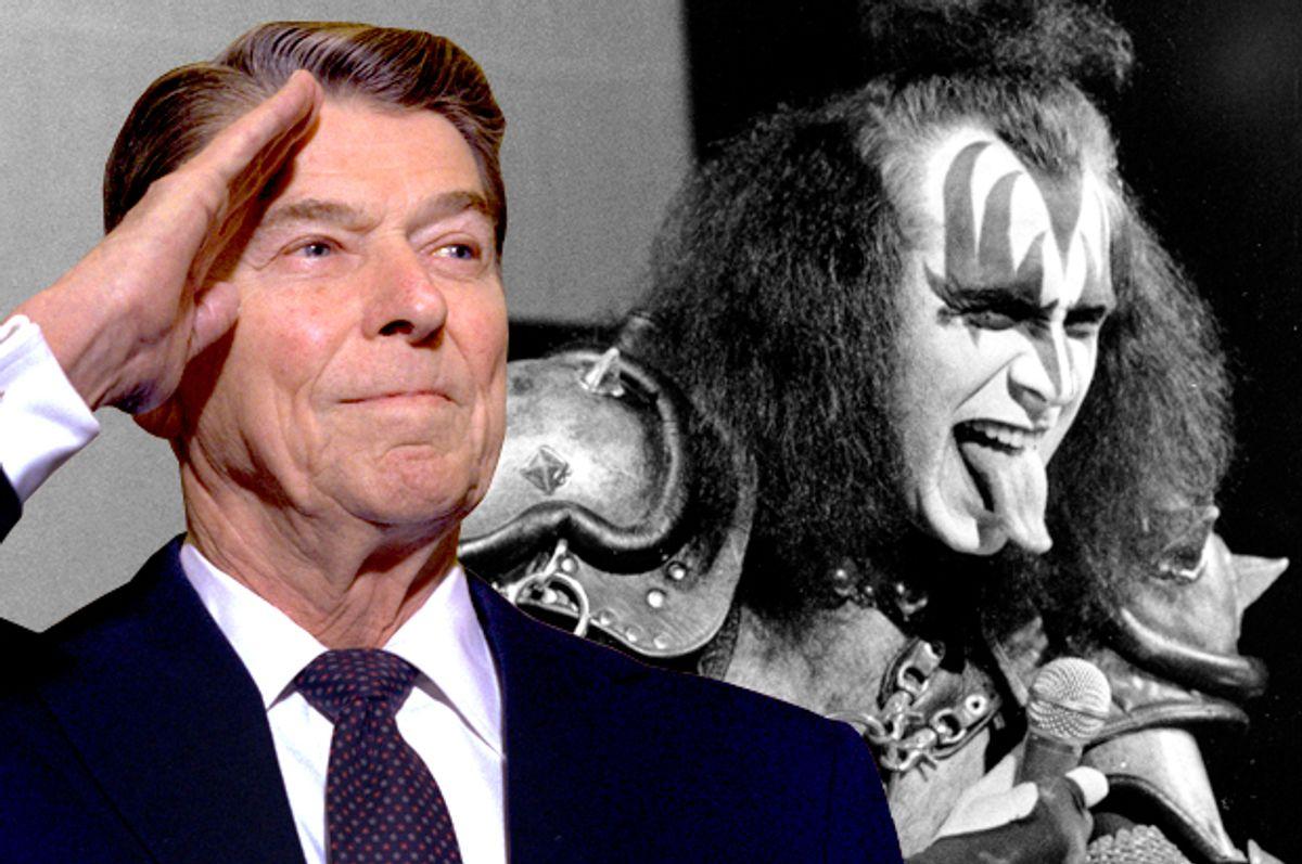 Ronald Reagan, Gene SImmons    (AP/Photo montage by Salon)
