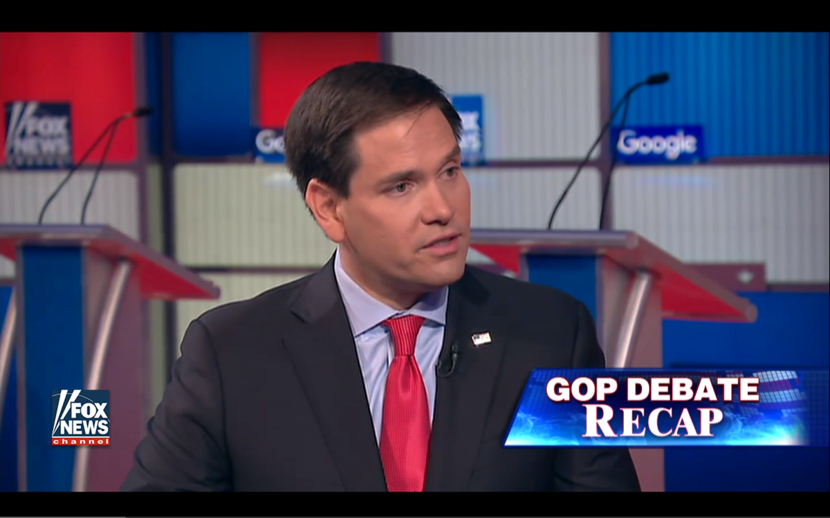 Marco Rubio speaks to Fox News after Thursday's debate