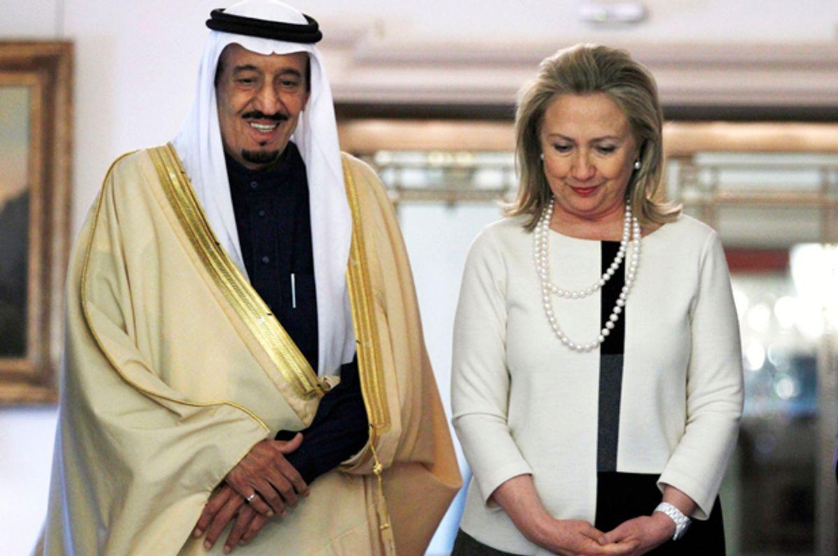 Hillary Rodham Clinton meets with Saudi Arabia'a Defense Minister Prince Salman bin Abdul-Aziz Al Saud at the State Department in Washington, on April 12, 2012.    (AP/Jacquelyn Martin)