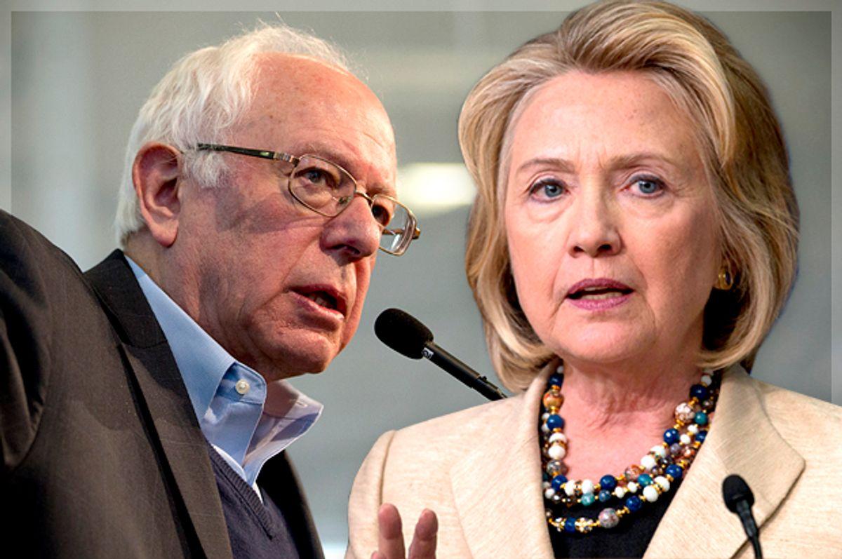 Bernie Sanders, Hillary Clinton   (Reuters/Mary Schwalm/Carlo Allegri/Photo montage by Salon)