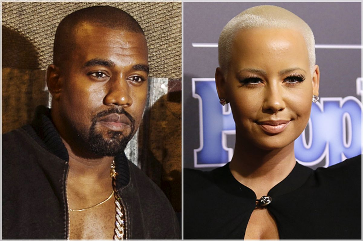 Kanye West, Amber Rose   (Reuters/Lucas Jackson/Danny Moloshok)