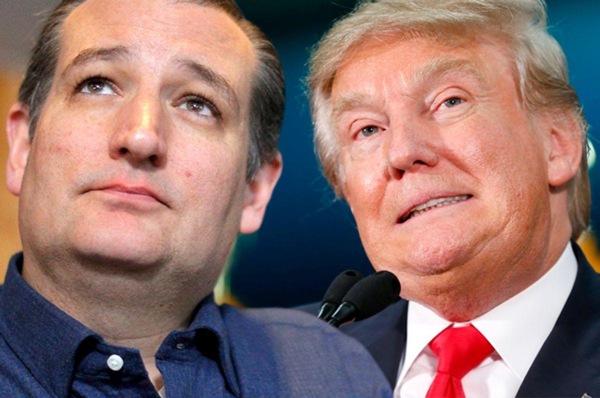 Ted Cruz, Donald Trump   (Reuters/Brian Snyder/AP/Paul Sancya/Photo montage by Salon)