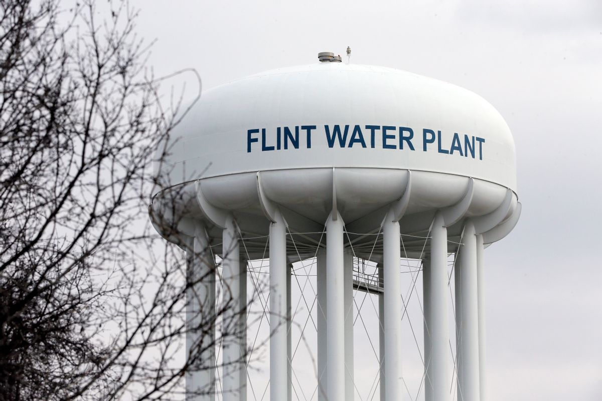 The Flint Water Plant tower is seen, Friday, Feb. 5, 2016 in Flint, Mich.  Michigan Gov. Rick Snyder on Friday defended how his office responded to an email flagging a potential link between a surge in Legionnaires' disease and Flint's water, saying an aide asked for further investigation but a state agency did not bring forward the issue again. (AP Photo/Carlos Osorio) (AP)