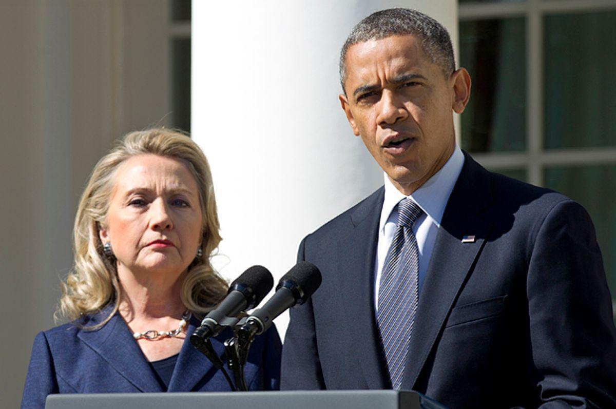Hillary Clinton, Barack Obama   (AP/Manuel Balce Ceneta)