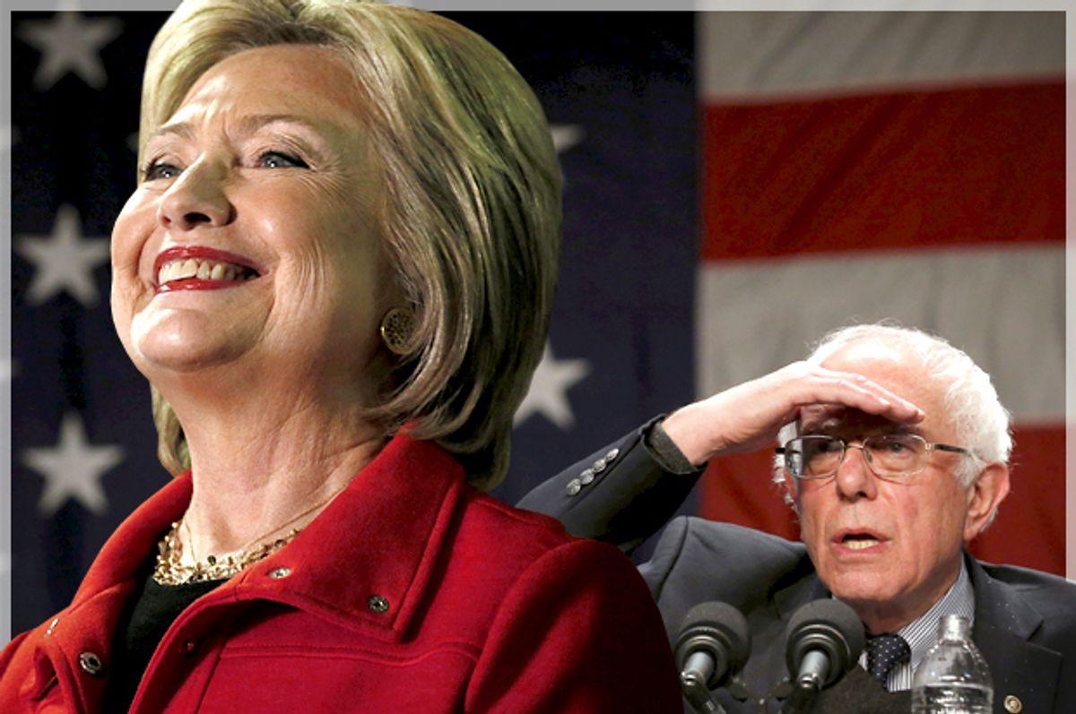 Hillary Clinton, Bernie Sanders   (Reuters/Jim Bourg/Jim Young/Photo montage by Salon)