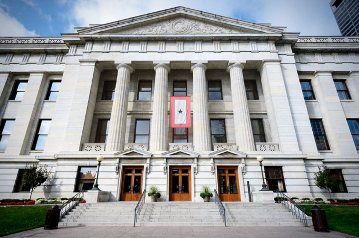 The Ohio Statehouse in Columbus, OH.   (<a href='http://www.shutterstock.com/gallery-122782p1.html'>Zack Frank</a> via <a href='http://www.shutterstock.com/'>Shutterstock</a>)