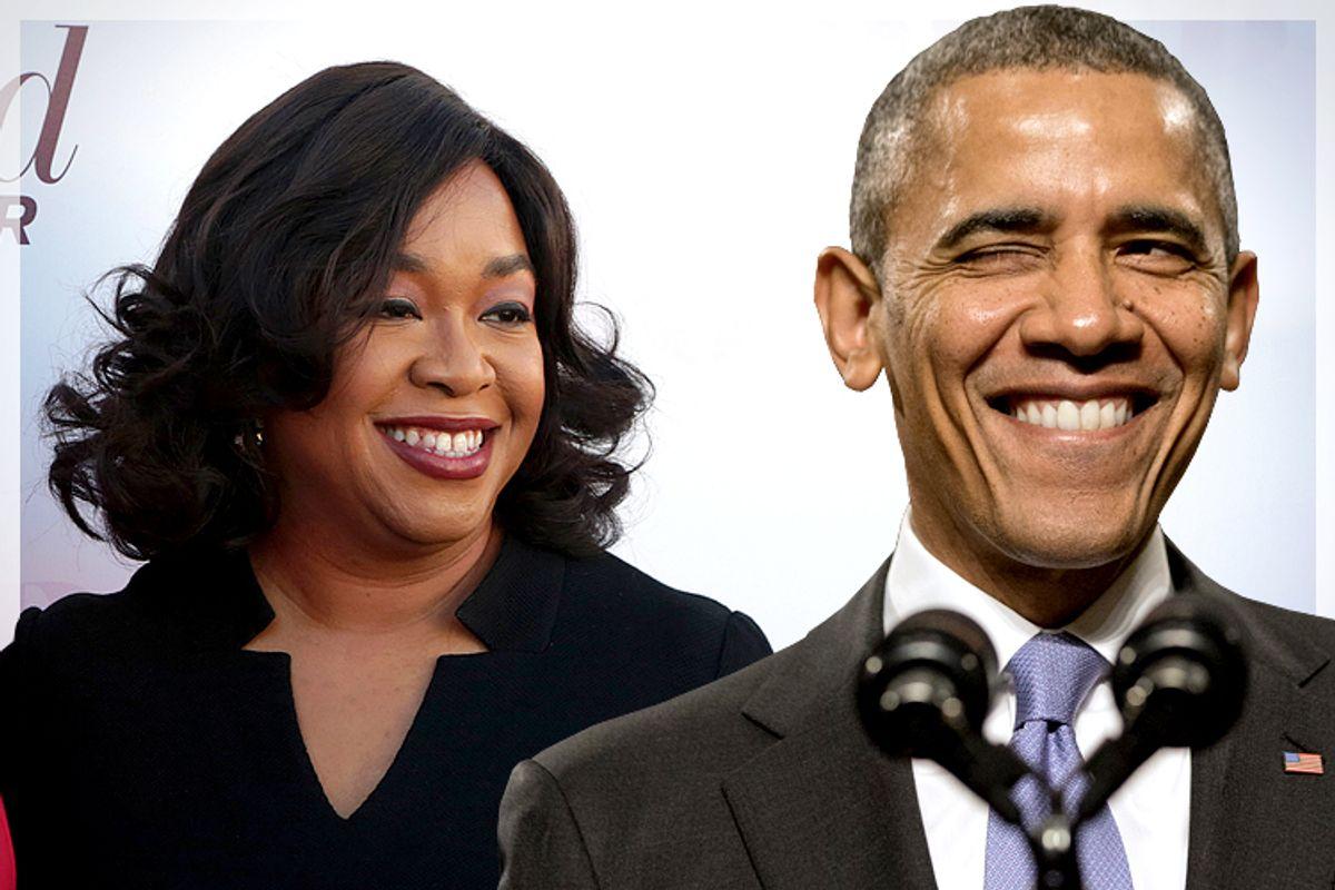 Shonda Rhimes, Barack Obama   (Reuters/Jonathan Alcorn/AP/Jacquelyn Martin)