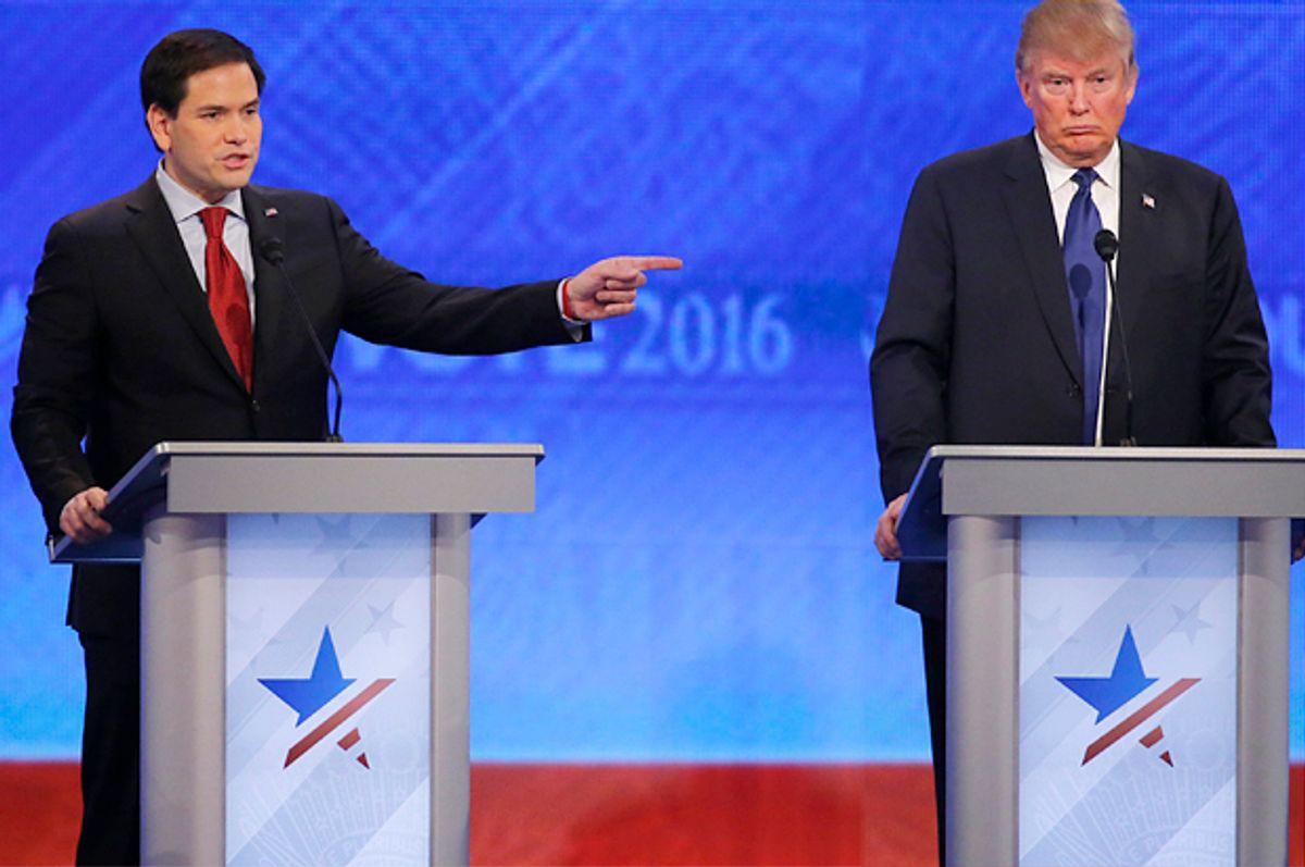 Marco Rubio, Donald Trump   (Reuters/Carlo Allegri)