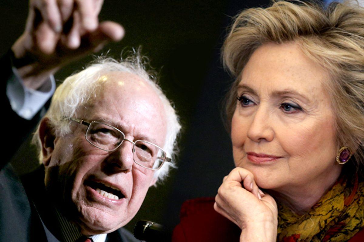 Bernie Sanders, Hillary Clinton   (Reuters/Jim Young/Mike Segar)