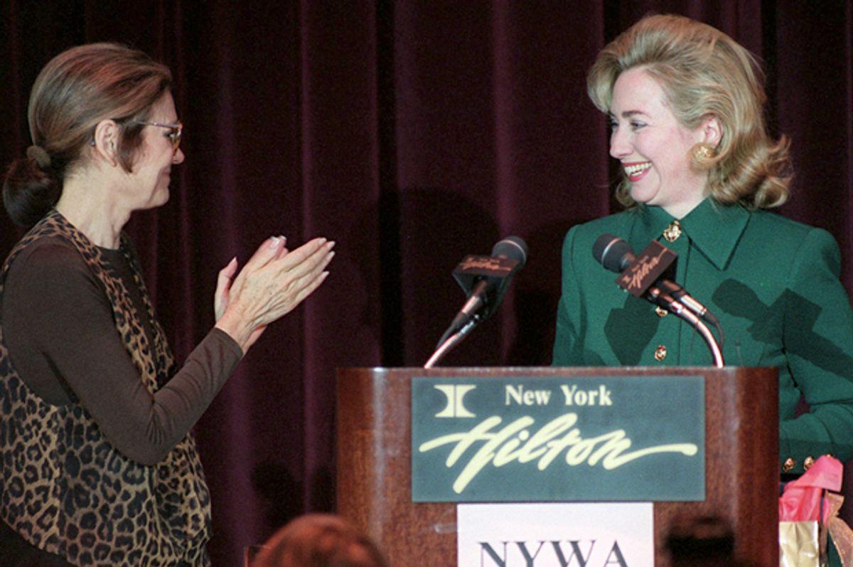 Gloria Steinem and Hillary Clinton in 1995.   (AP/Joe Tabacca)