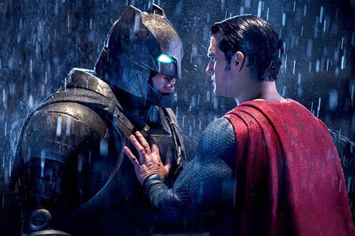 "Ben Affleck and Henry Cavill in ""Batman v Superman: Dawn of Justice"" (Warner Bros. Entertainment)"