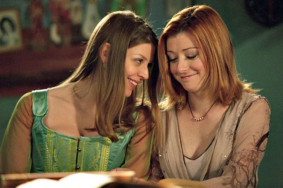 "Amber Benson and Alyson Hannigan in ""Buffy the Vampire Slayer""   (20th Century Fox Television)"