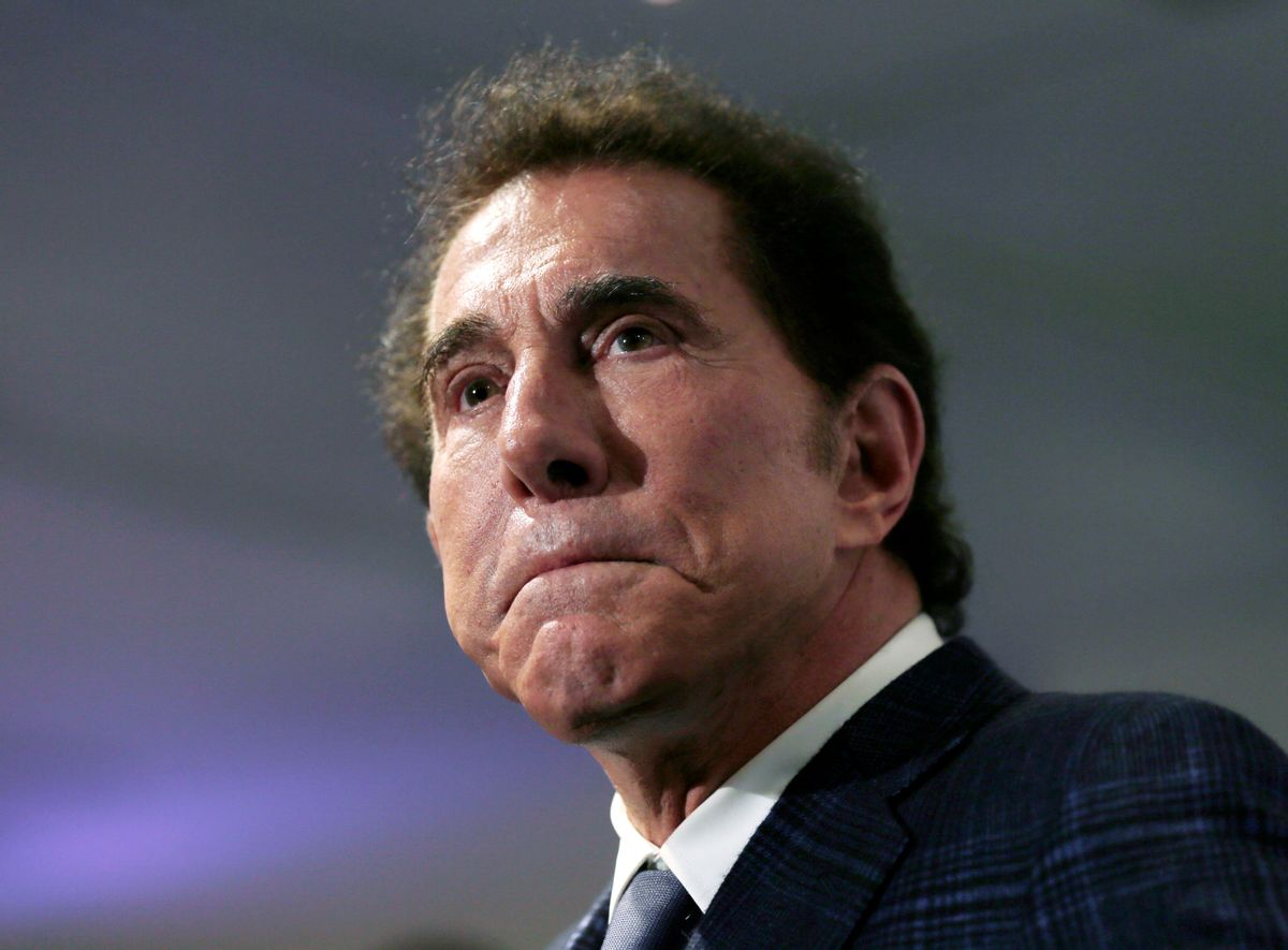 FILE - This March 15, 2016, file photo, shows casino mogul Steve Wynn at a news conference in Medford, Mass. Elaine Wynn, the ex-wife of Steve Wynn, wants a Nevada court to give her control of more than $900 million worth of company stock restricted by a shareholders' agreement five years ago. Elaine Wynn filed documents Monday, March 28, 2016, in Clark County District Court alleging her ex-husband breached contractual promises made after the couple divorced in 2009. (AP Photo/Charles Krupa, File) ((AP Photo/Charles Krupa, File))