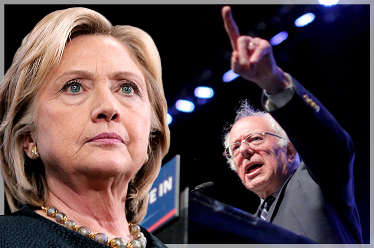 Hillary Clinton, Bernie Sanders   (Reuters/Brian Snyder/Photo montage by Salon)
