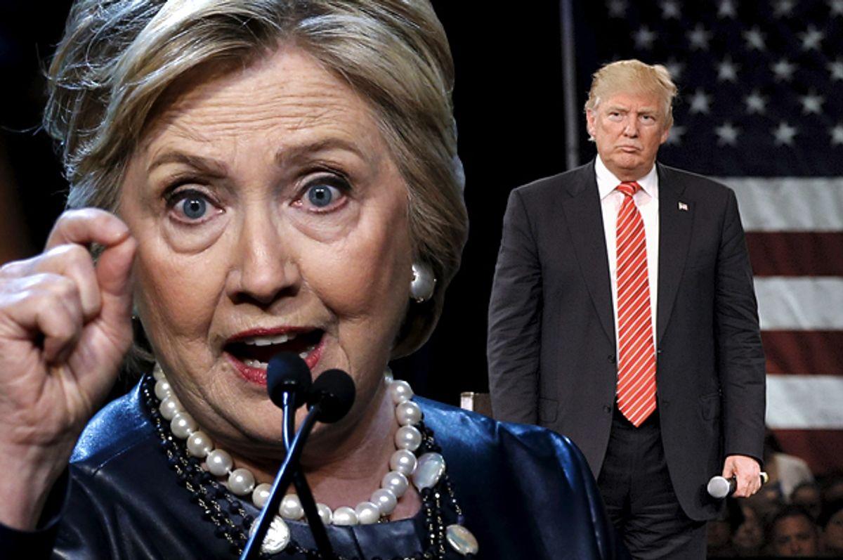 Hillary Clinton, Donald Trump   (Reuters/Mike Segar/Steve Nesius/Photo montage by Salon)