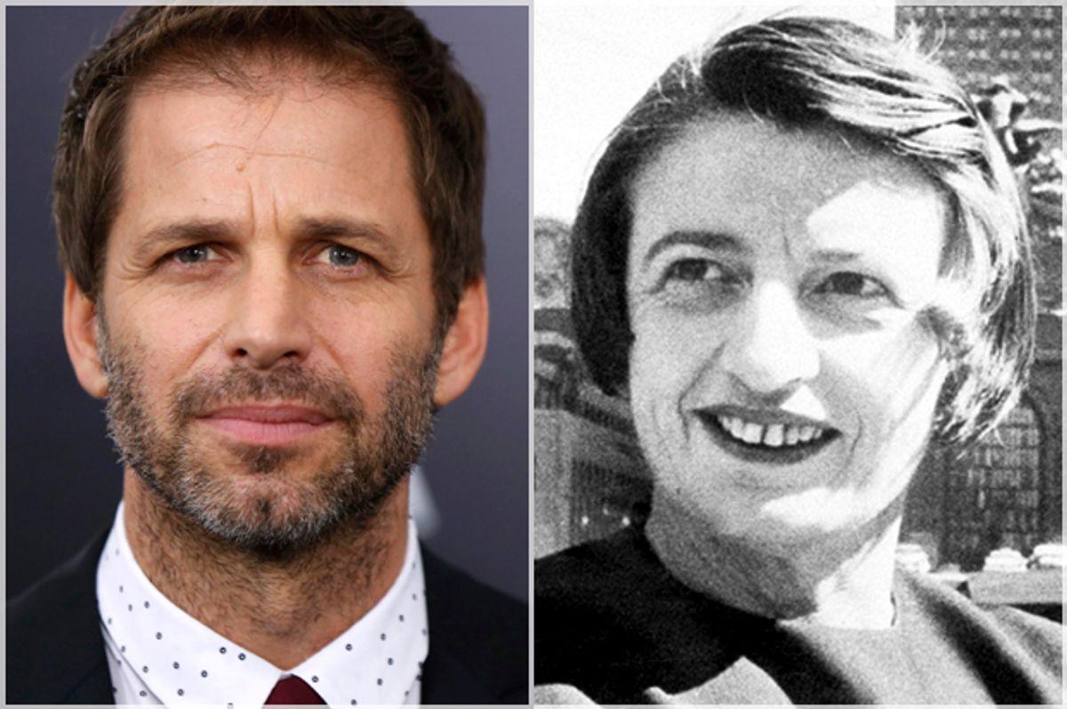 Zack Snyder, Ayn Rand   (Reuters/Lucas Jackson/AP)
