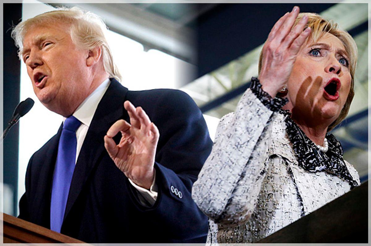 Hillary Clinton, Donald Trump   (Reuters/Aaron Josefczyk/Jonathan Ernst/Photo montage by Salon)