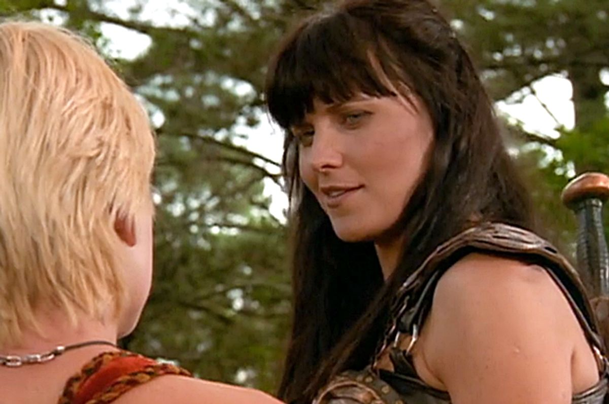 """Lucy Lawless in the original """"Xena: Warrior Princess"""""""