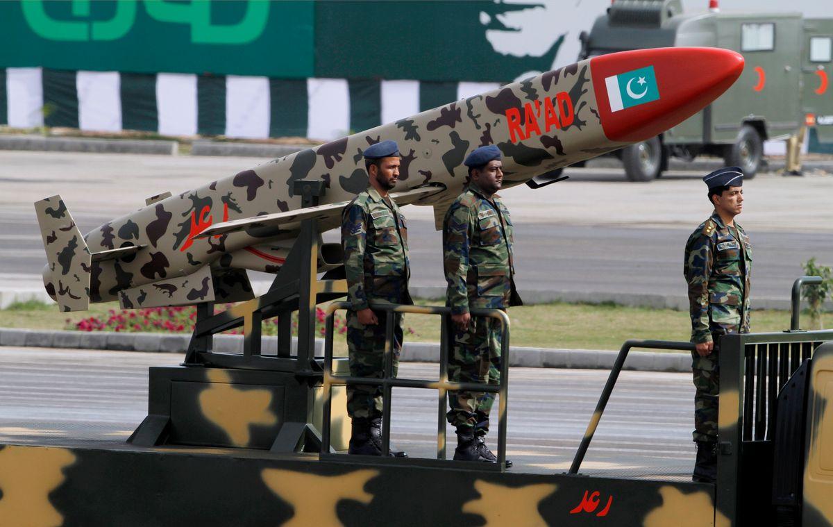 A Pakistani-made Cruise missile in Islamabad, Pakistan  (AP/Anjum Naveed)