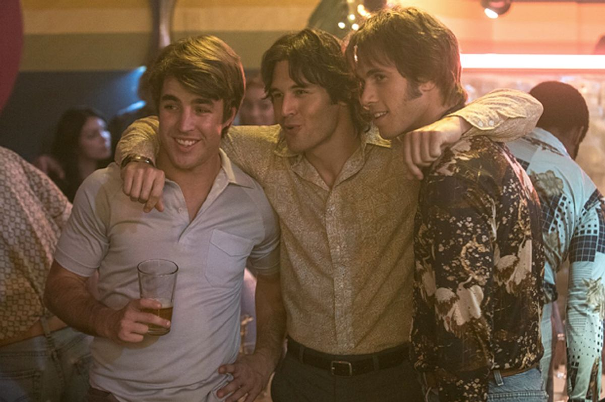"""Temple Baker, Ryan Guzman and Blake Jenner in """"Everybody Wants Some""""   (Paramount Pictures)"""