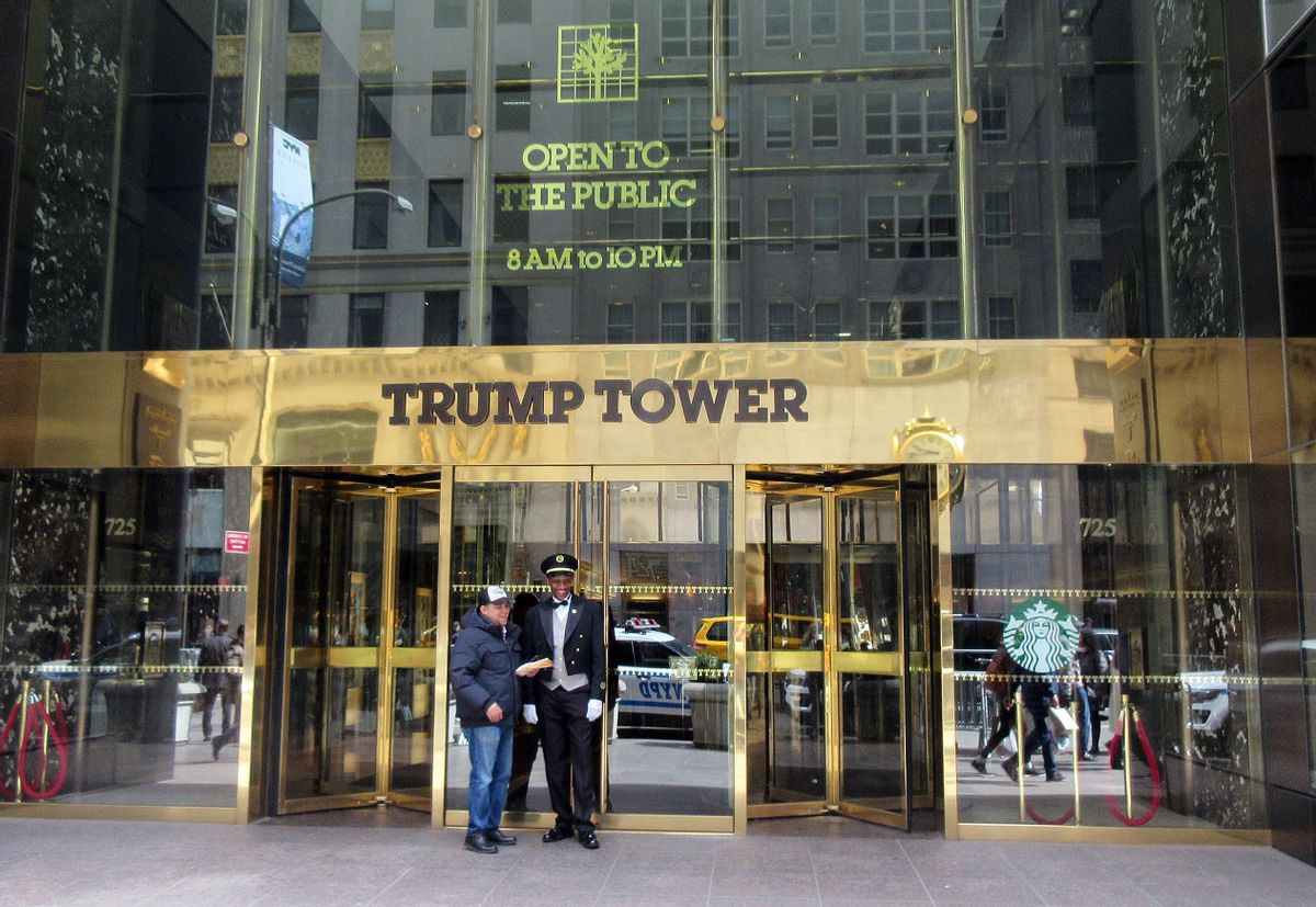 FILE - This April 8, 2016 file photo shows the entrance to Trump Tower in New York. (AP)