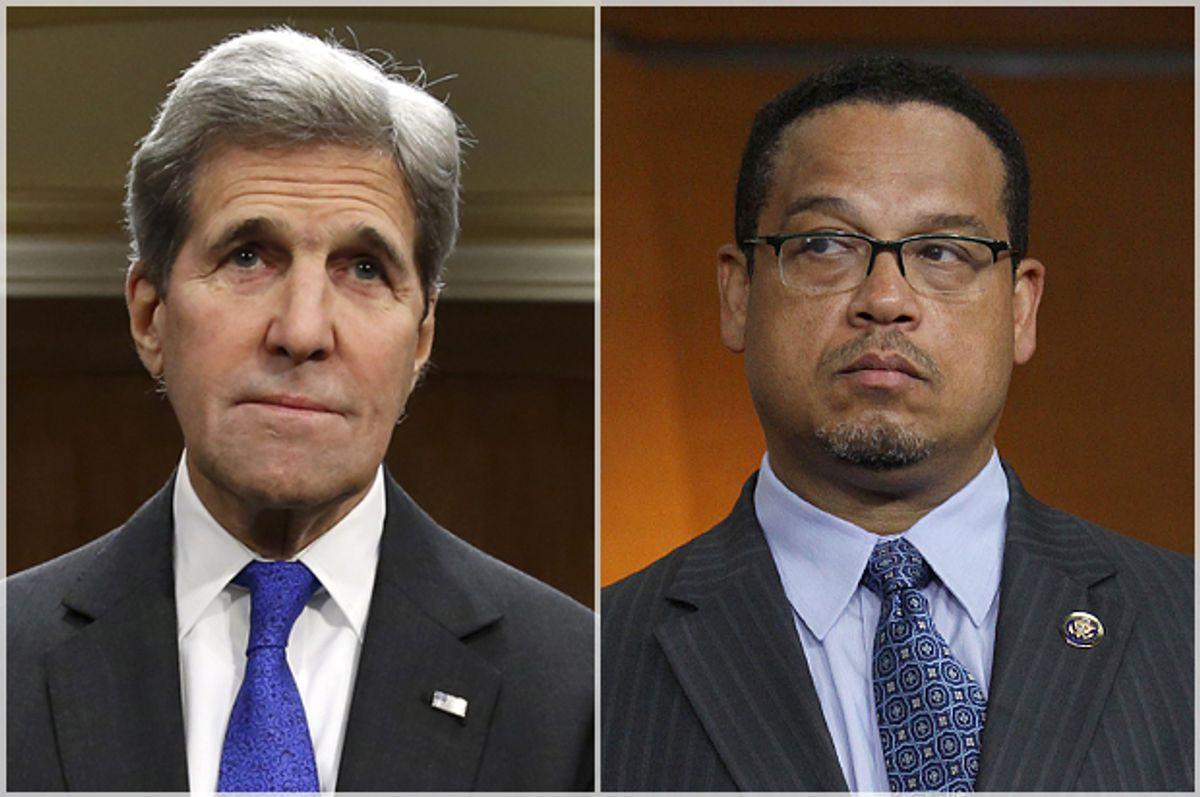 John Kerry, Keith Ellison   (Reuters/Yuri Gripas/AP/Lauren Victoria Burke)