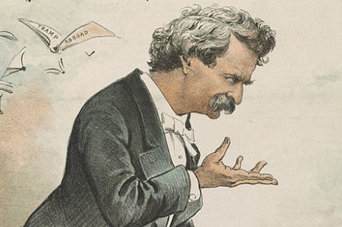 """Cover detail of """"Chasing the Last Laugh: Mark Twain's Raucous and Redemptive Round-the-World Comedy Tour""""   (Doubleday)"""