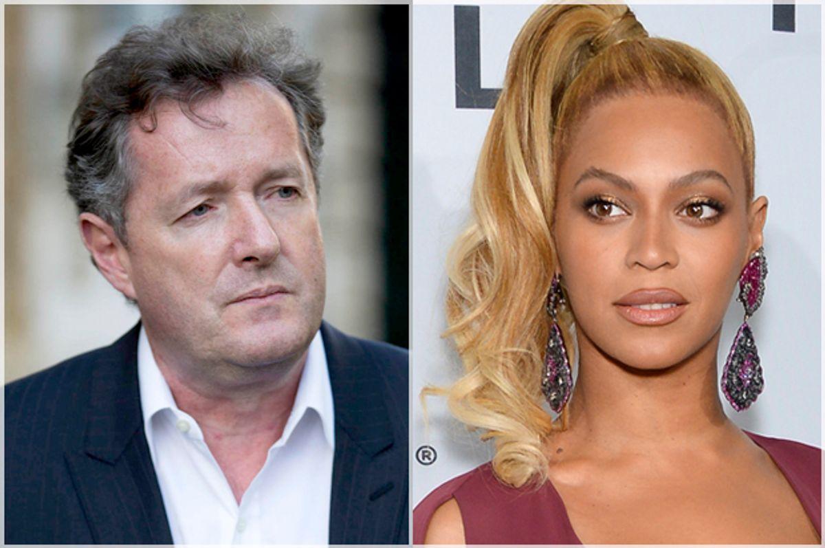 Piers Morgan, Beyoncé   (Reuters/Andrew Burton/AP/Evan Agostini)