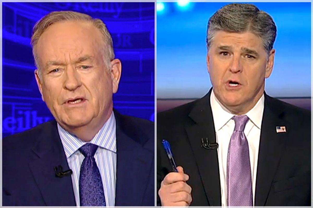Bill O'Reilly, Sean Hannity   (Fox News)