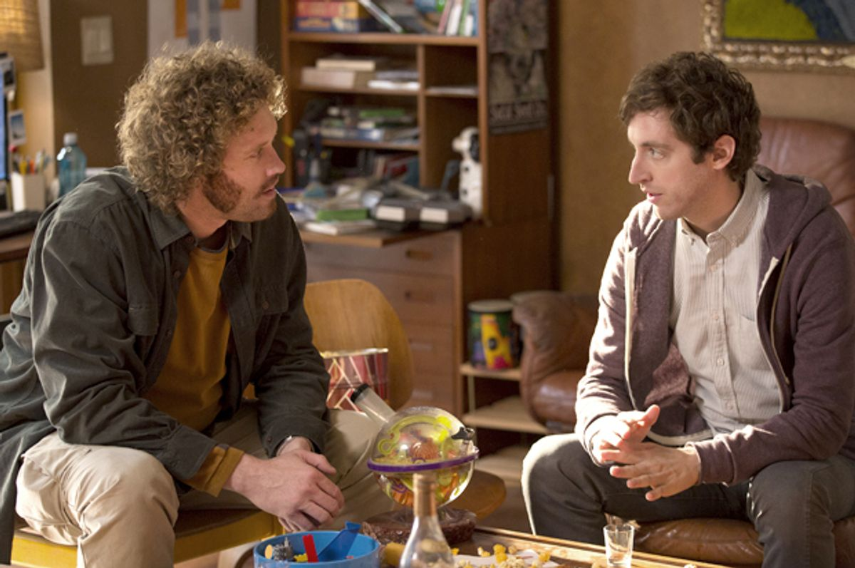 """T.J. Miller and Thomas Middleditch in """"Silicon Valley""""   (HBO)"""