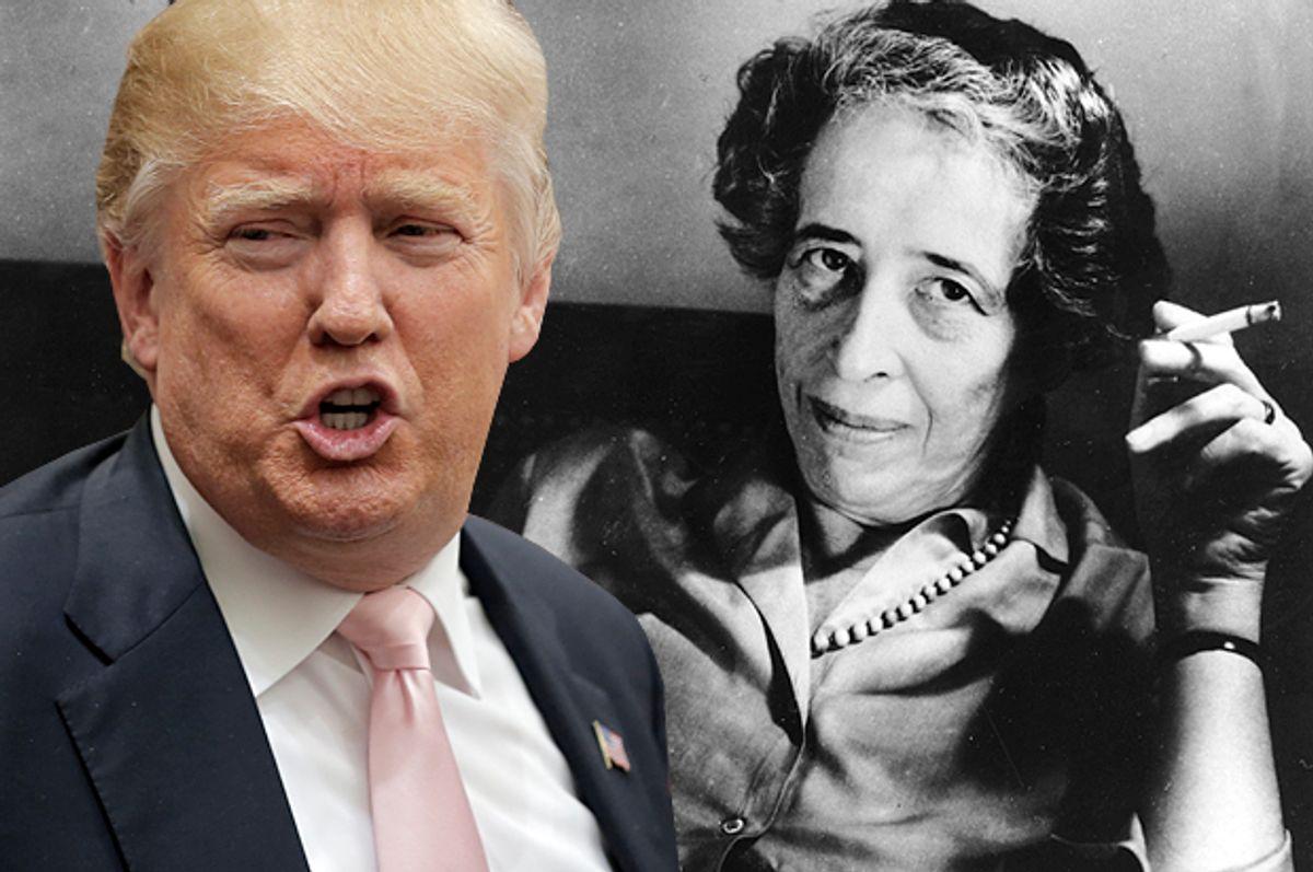 Donald Trump, Hannah Arendt   (Reuters/Chris Keane/AP)