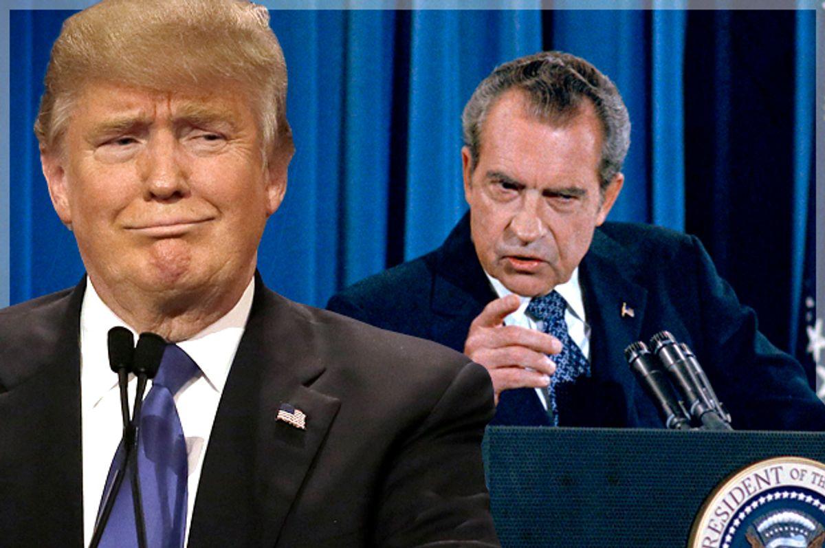 Donald Trump, Richard Nixon   (AP/Carlos Osorio/Photo montage by Salon)