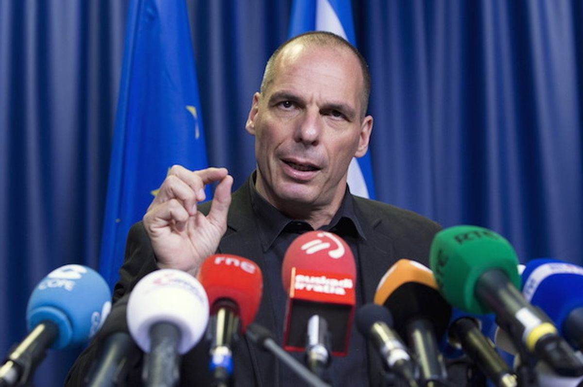 Former Greek Finance Minister Yanis Varoufakis at a news conference in June 27, 2015  (Reuters/Yves Herman)