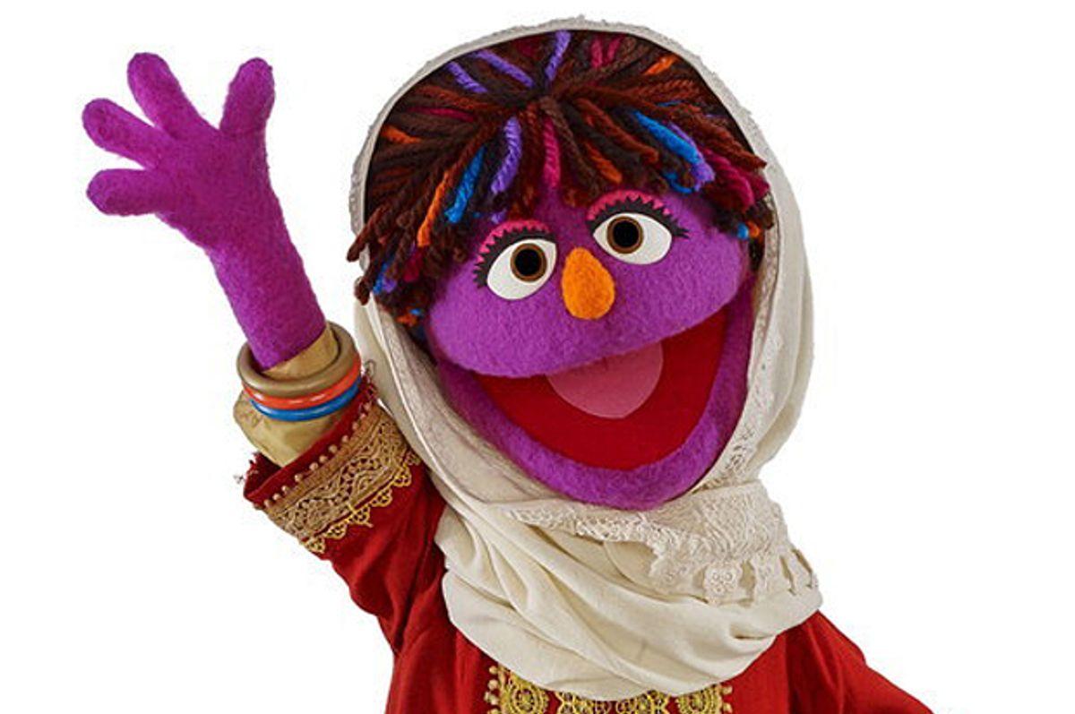 "Zari, the news puppet on ""Sesame Street"""