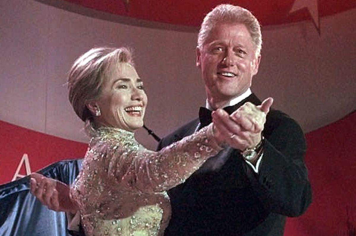 Hillary and Bill Clinton, Jan. 20, 1997.   (AP/J. Scott Applewhite)