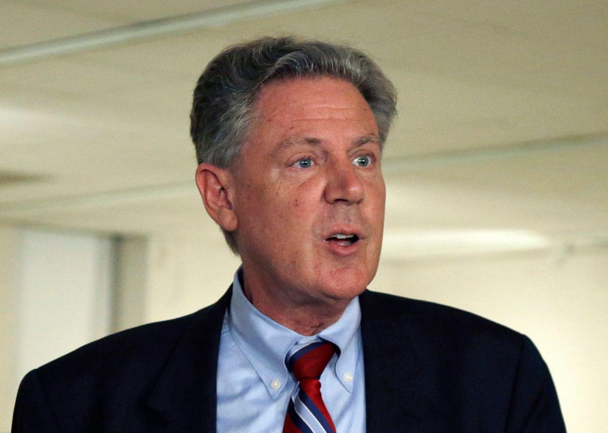 FILE - In this June 10, 2013 file photo, Rep. Frank Pallone, Jr. speaks in Trenton, N.J.    (AP Photo/Mel Evans, File) (AP)