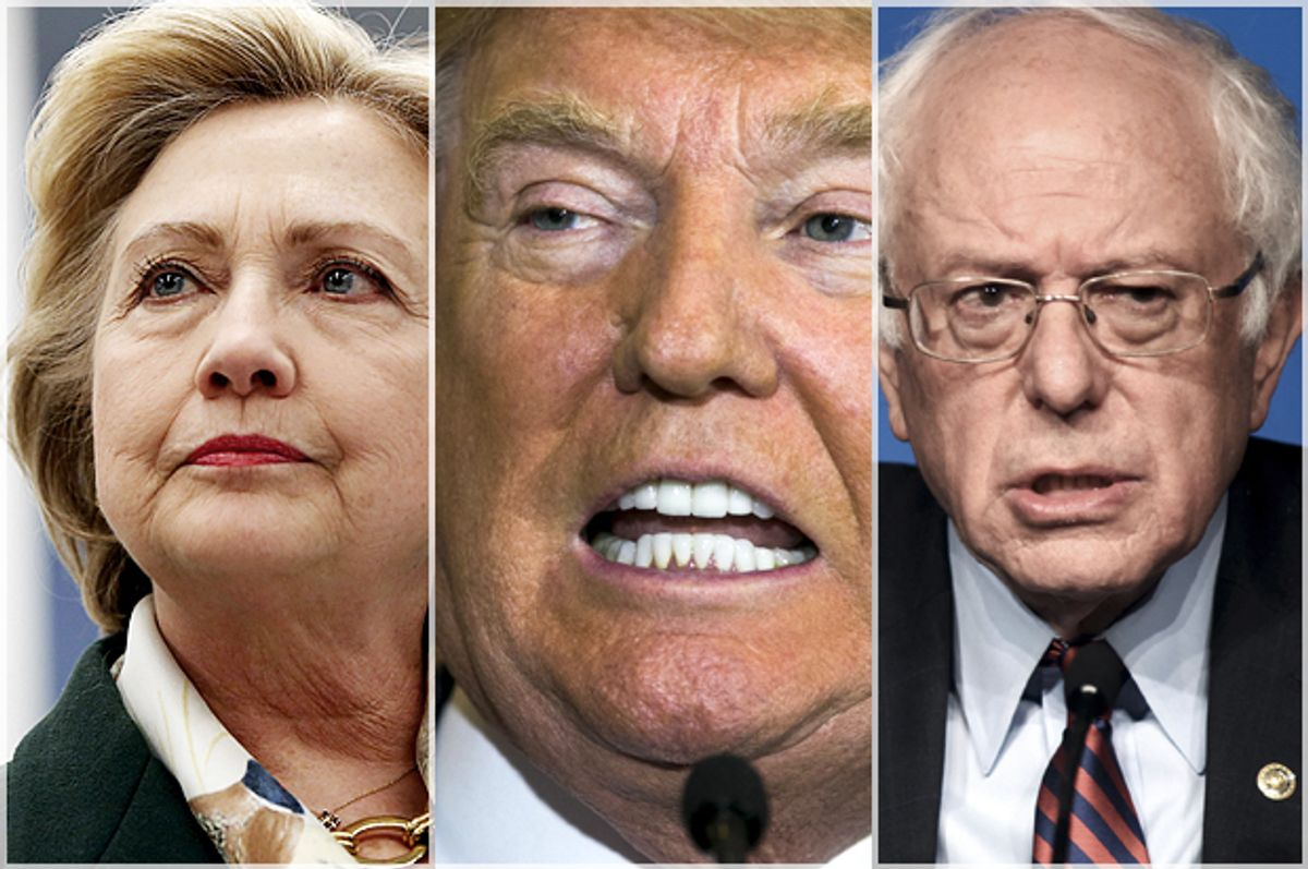 Hillary Clinton, Donald Trump, Bernie Sanders   (Reuters/Shannon Stapleton/Lucas Jackson/Mark Kauzlarich)