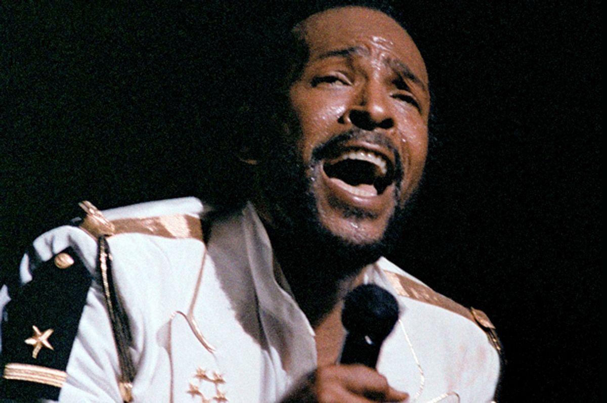 Marvin Gaye performs at Radio City Music Hall, May 17, 1983.   (AP/Nancy Kaye))