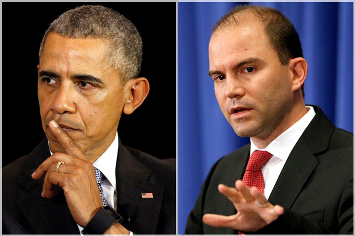 Barack Obama, Ben Rhodes   (Reuters/Kevin Lamarque)