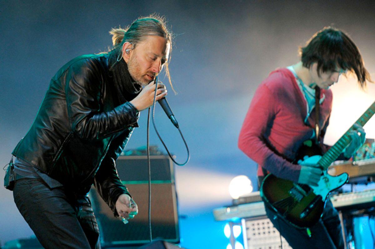 Thom Yorke and Jonny Greenwood of Radiohead   (AP/Chris Pizzello)