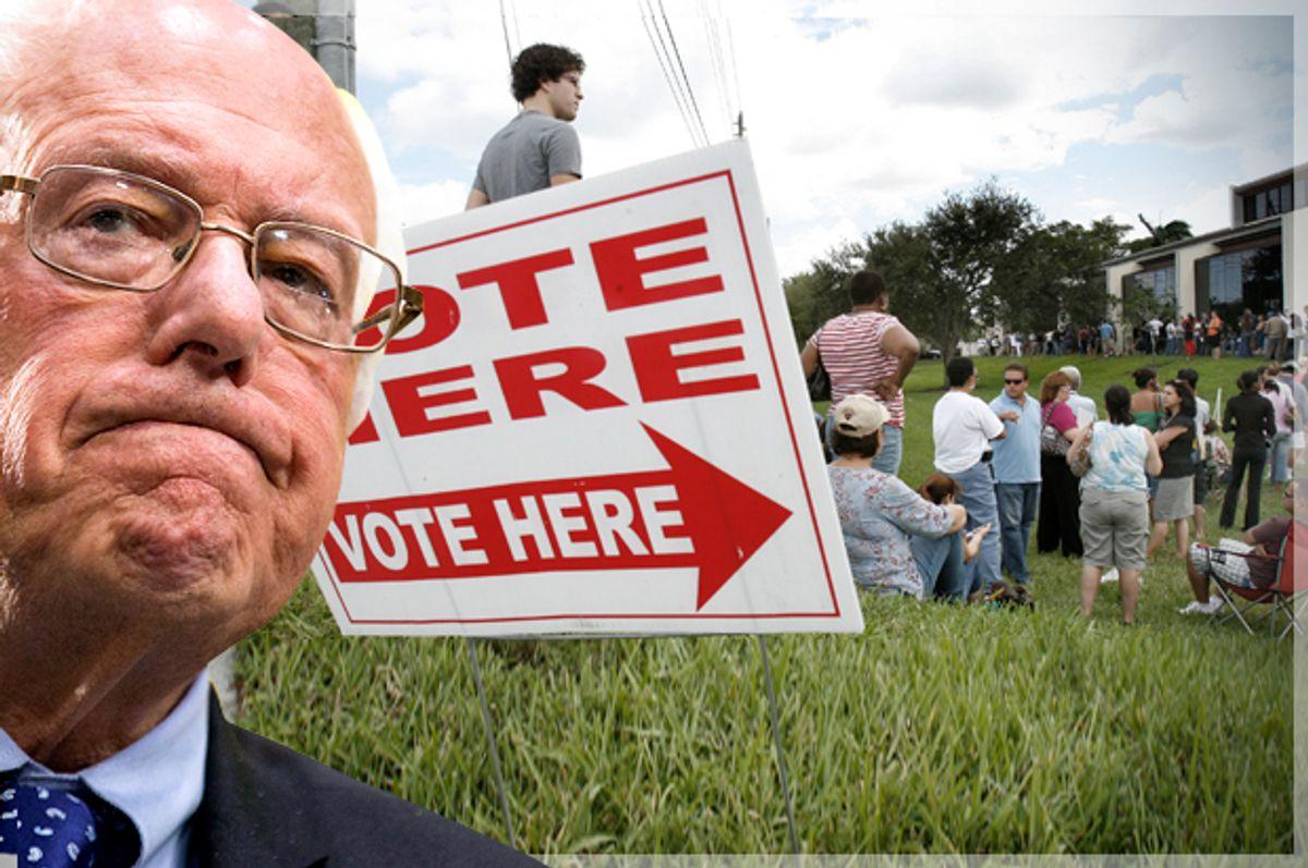 Bernie Sanders   (AP/Brynn Anderson/Reuters/Hans Deryk/Photo montage by Salon)