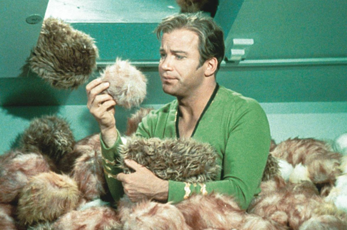"""William Shatner and Tribbles in """"Star Trek""""   (Paramount Television)"""