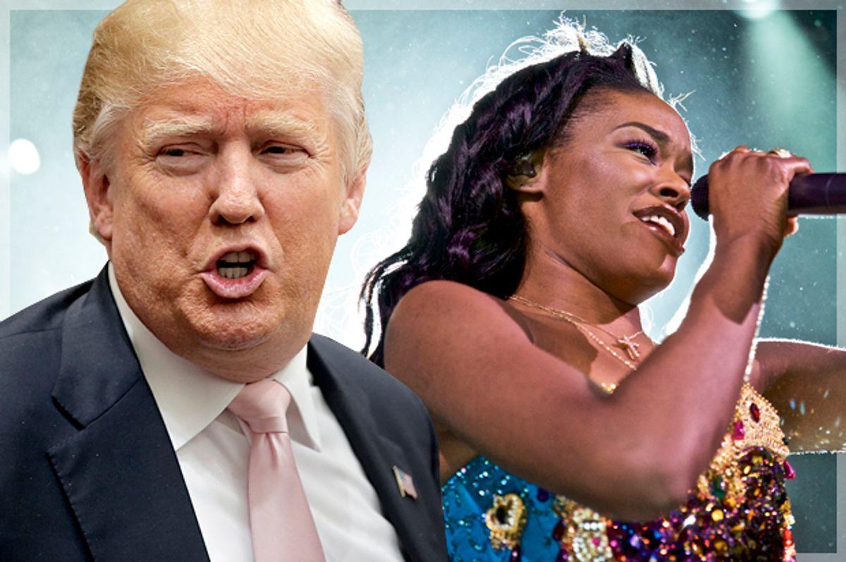 Donald Trump, Azealia Banks   (Reuters/Chris Keane/AP/Robert Altman/Photo montage by Salon)