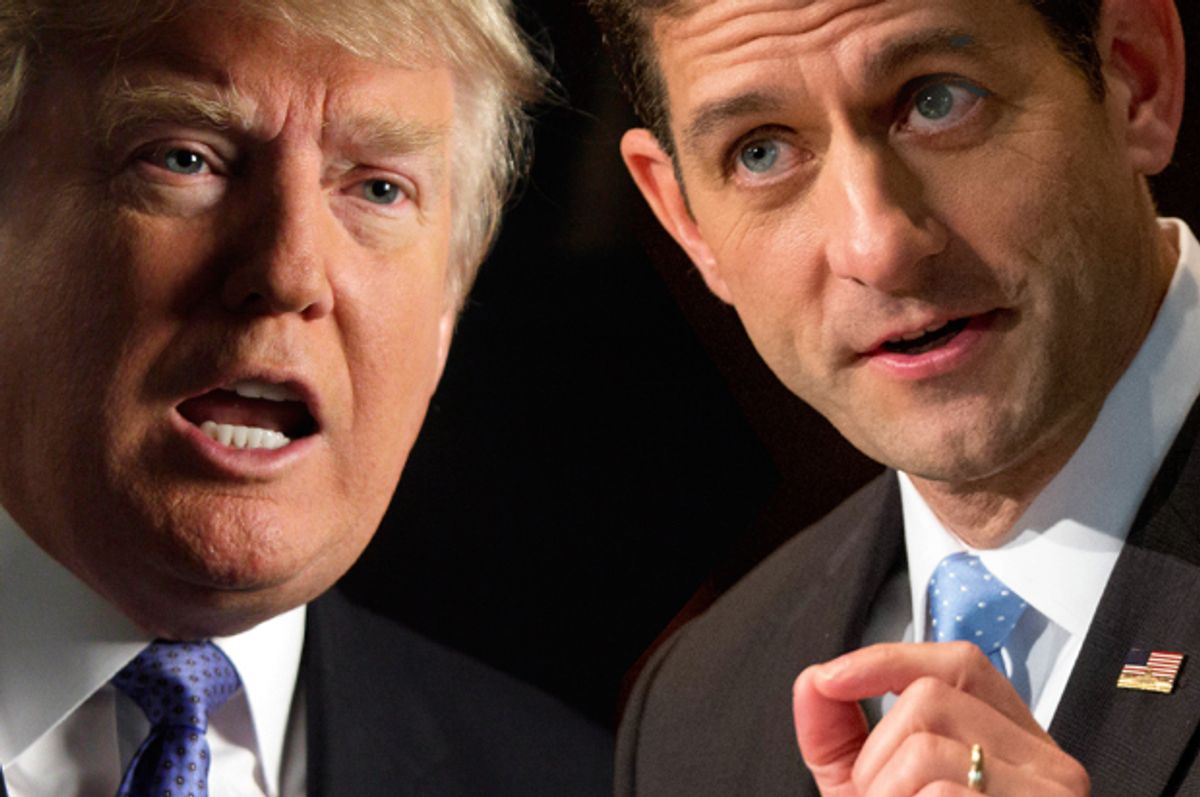 Paul Ryan, Donald Trump   (AP/Richard Drew/Andrew Harnik/Photo montage by Salon)
