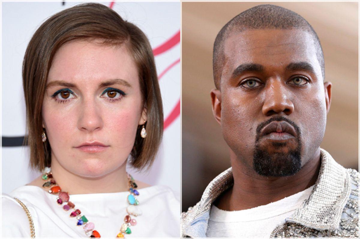 Lena Dunham, Kanye West   (AP/Evan Agostini/Reuters/Lucas Jackson)